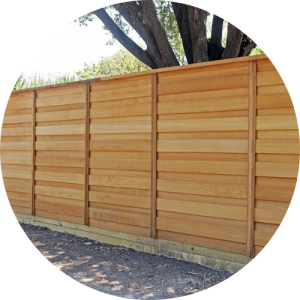 wood privacy fence Newport Beach california